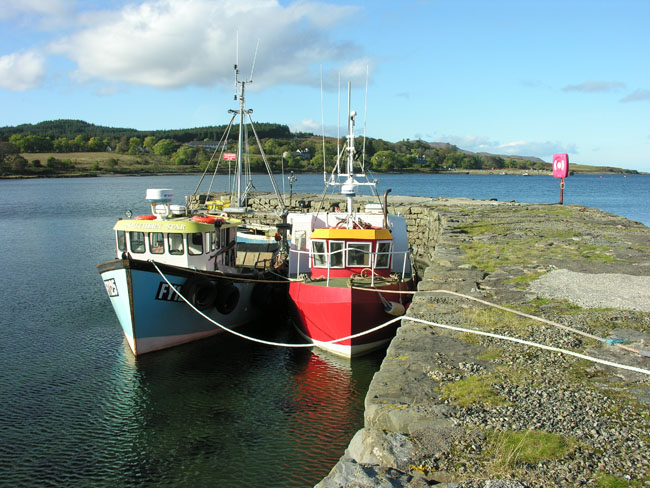 Fishing boats on Broadford pier
